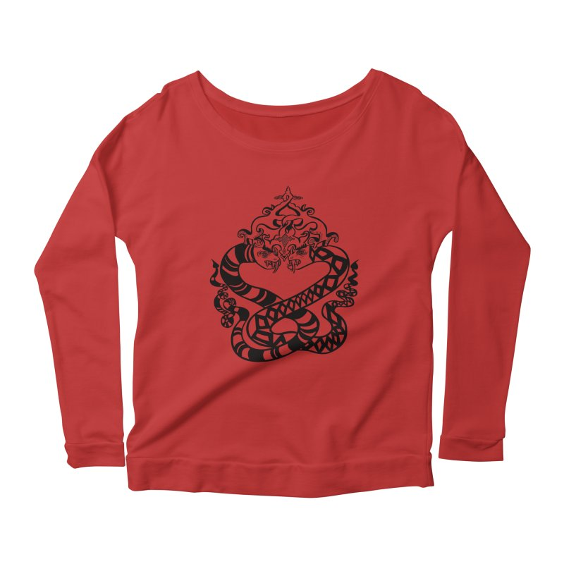 Lovelocked Women's Longsleeve Scoopneck  by Julie Murphy's Artist Shop