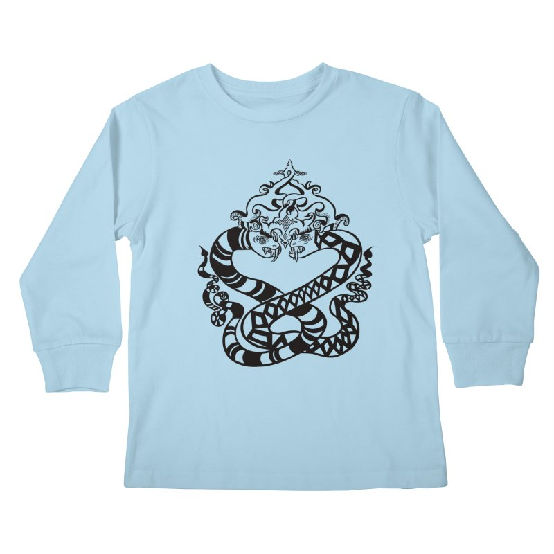 Lovelocked Kids Longsleeve T-Shirt by Julie Murphy's Artist Shop