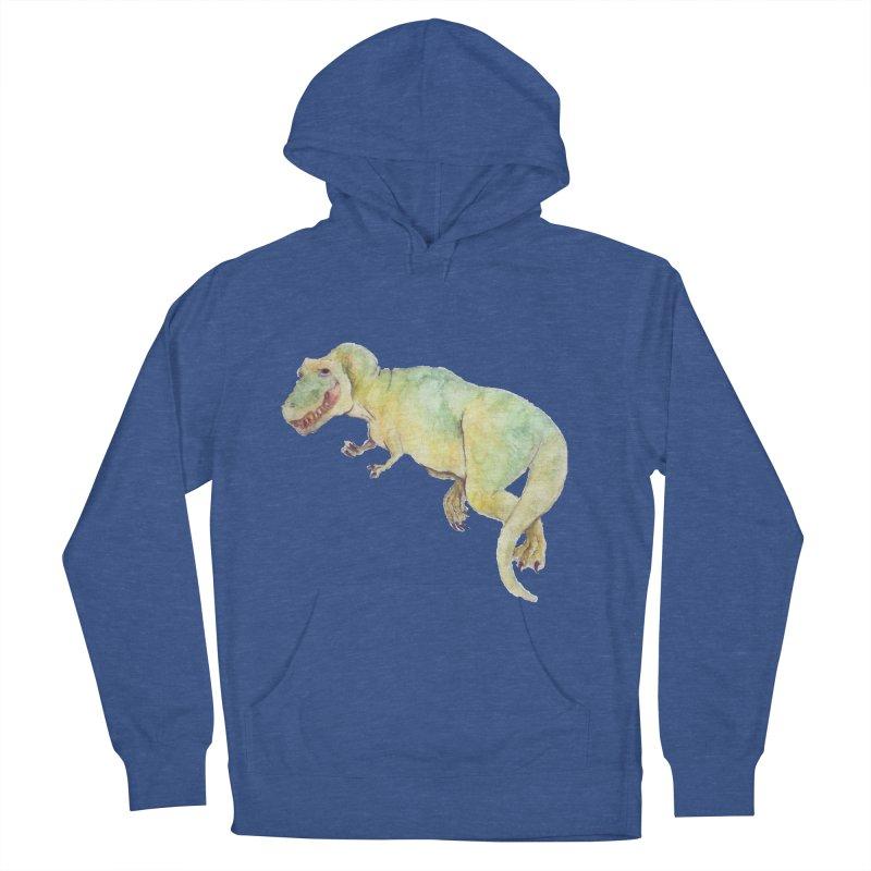 t-rex in watercolour Women's Pullover Hoody by designs by julie sweetin