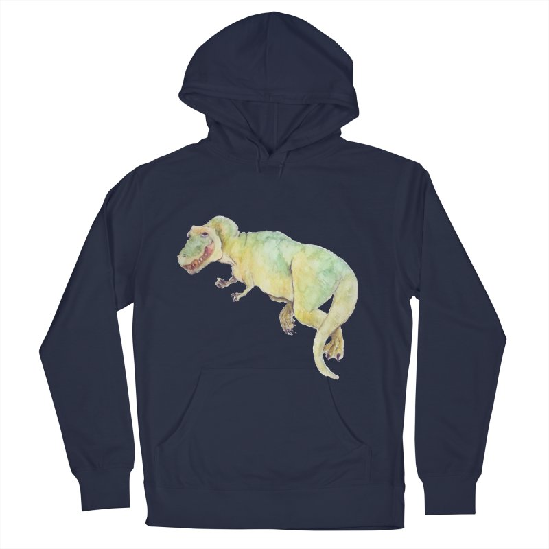 t-rex in watercolour Women's Pullover Hoody by designs by julie sweetin