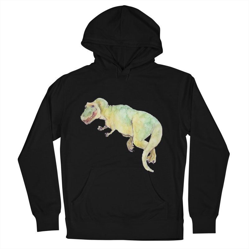 t-rex in watercolour Men's Pullover Hoody by designs by julie sweetin