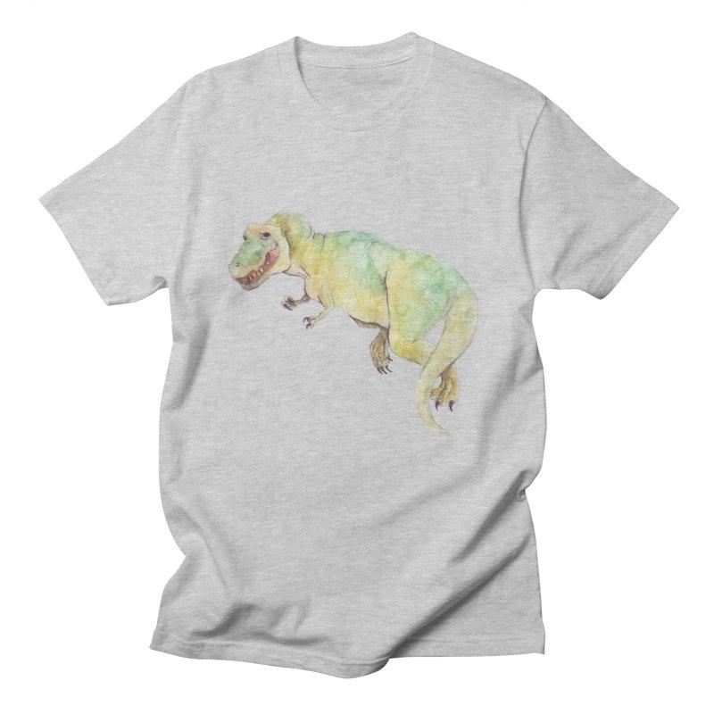 t-rex in watercolour Men's T-shirt by designs by julie sweetin