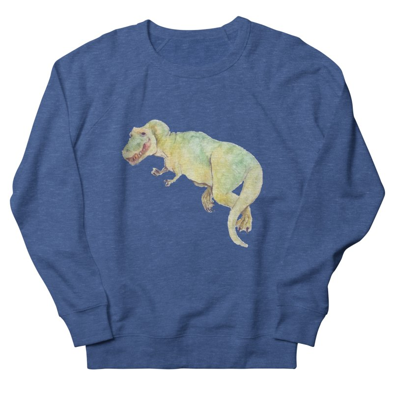 t-rex in watercolour Women's Sweatshirt by designs by julie sweetin