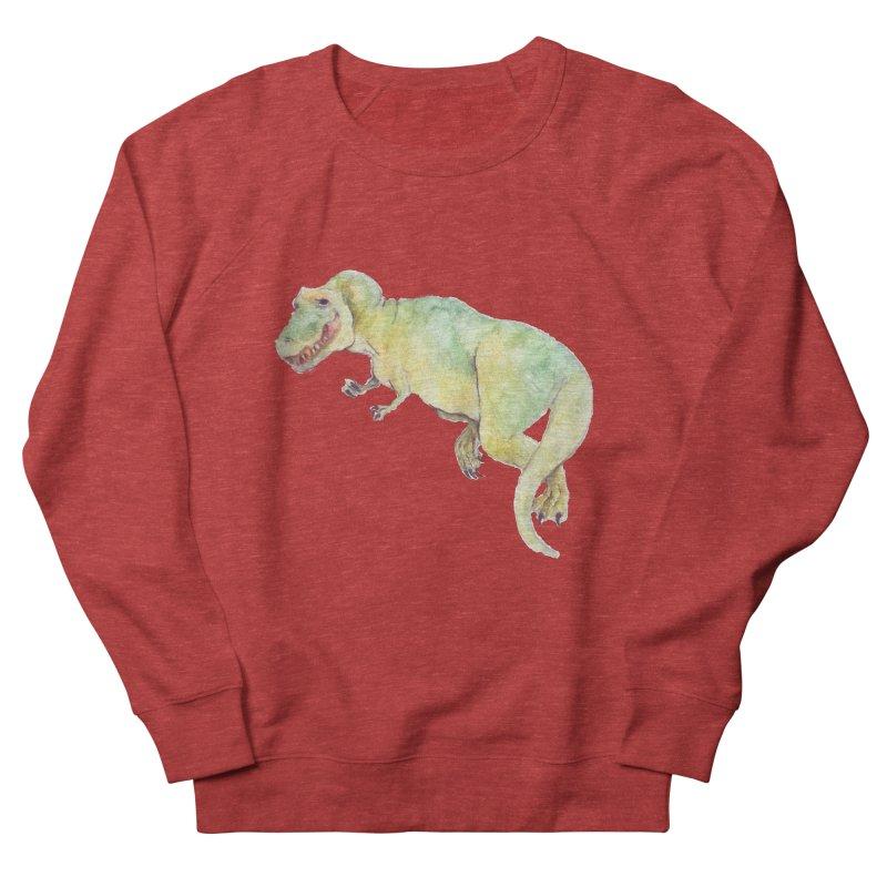 t-rex in watercolour Women's Sweatshirt by designs by julie sweetin