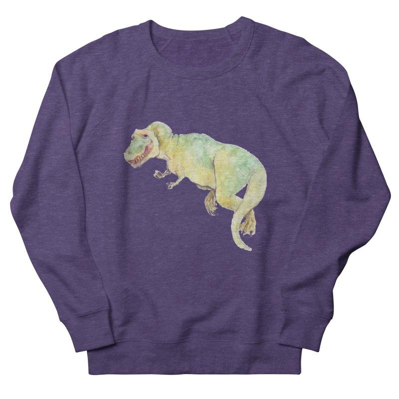t-rex in watercolour Men's Sweatshirt by designs by julie sweetin