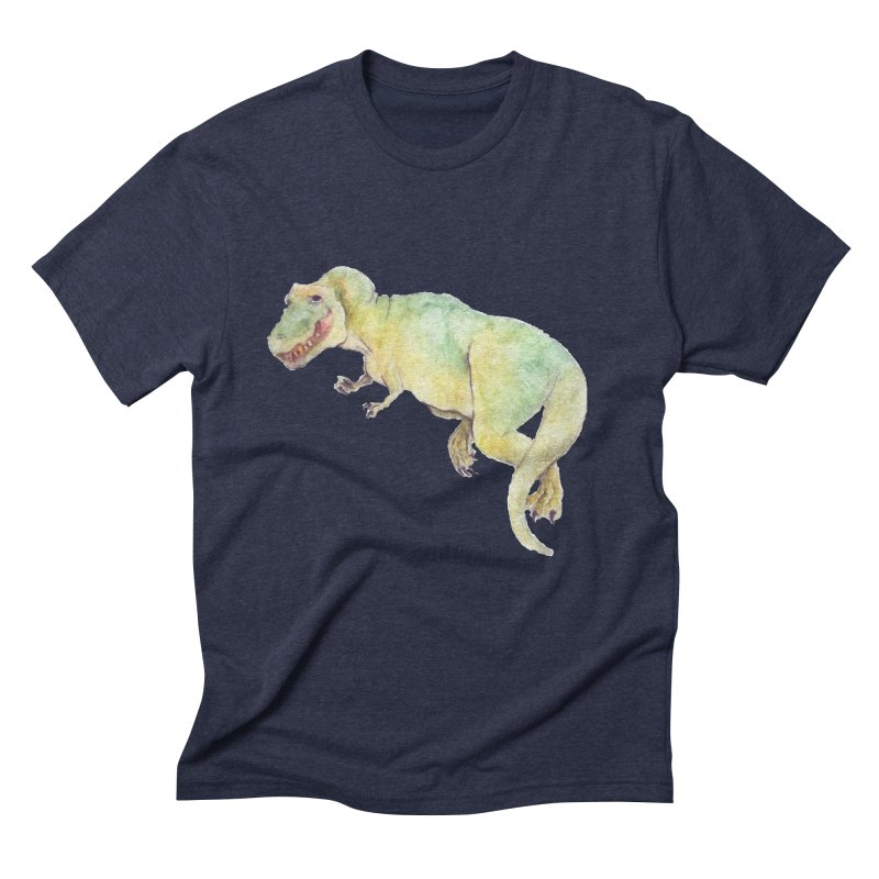 t-rex in watercolour Men's Triblend T-Shirt by designs by julie sweetin
