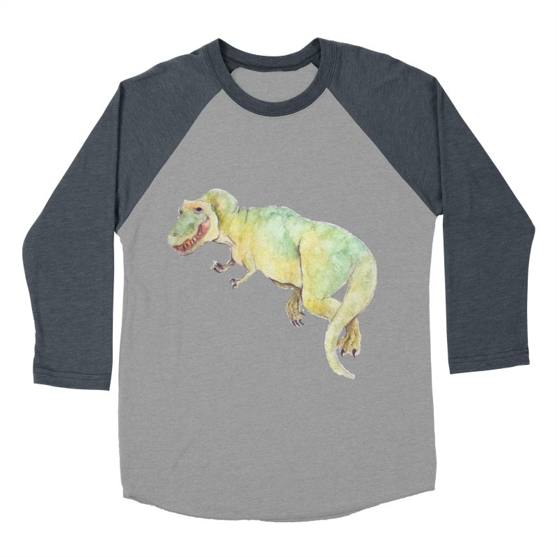 t-rex in watercolour Women's Baseball Triblend T-Shirt by designs by julie sweetin