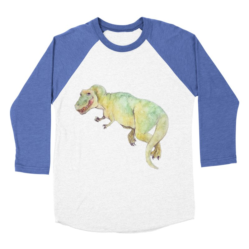t-rex in watercolour Men's Baseball Triblend T-Shirt by designs by julie sweetin