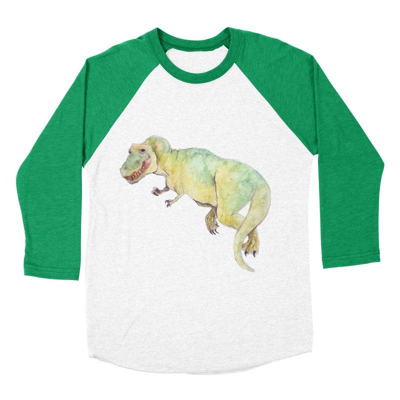 t-rex in watercolour Men's Baseball Triblend T-Shirt by designs by julie sweetin