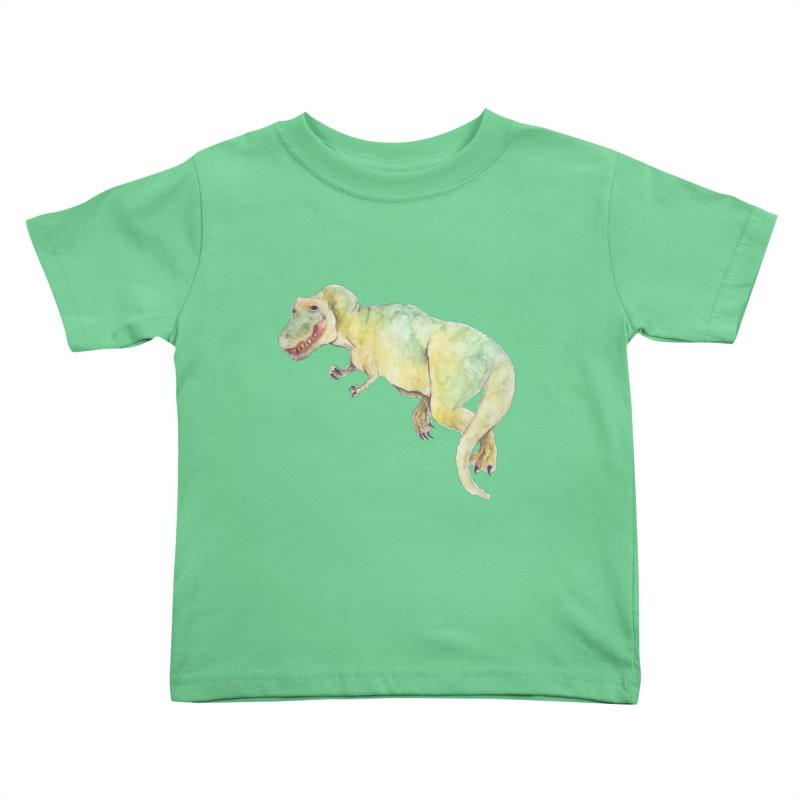 t-rex in watercolour Kids Toddler T-Shirt by designs by julie sweetin
