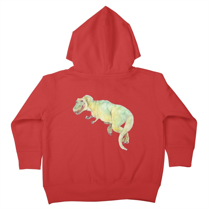 t-rex in watercolour Kids Toddler Zip-Up Hoody by designs by julie sweetin