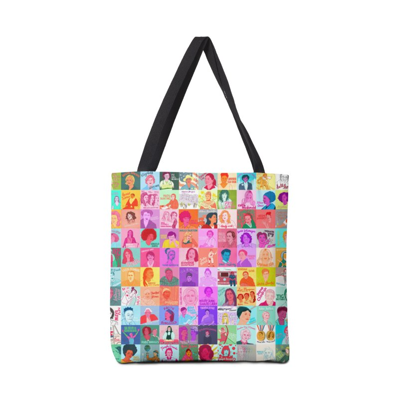 100 Badass Babes Accessories Tote Bag Bag by Julie Van Grol's Artist Shop