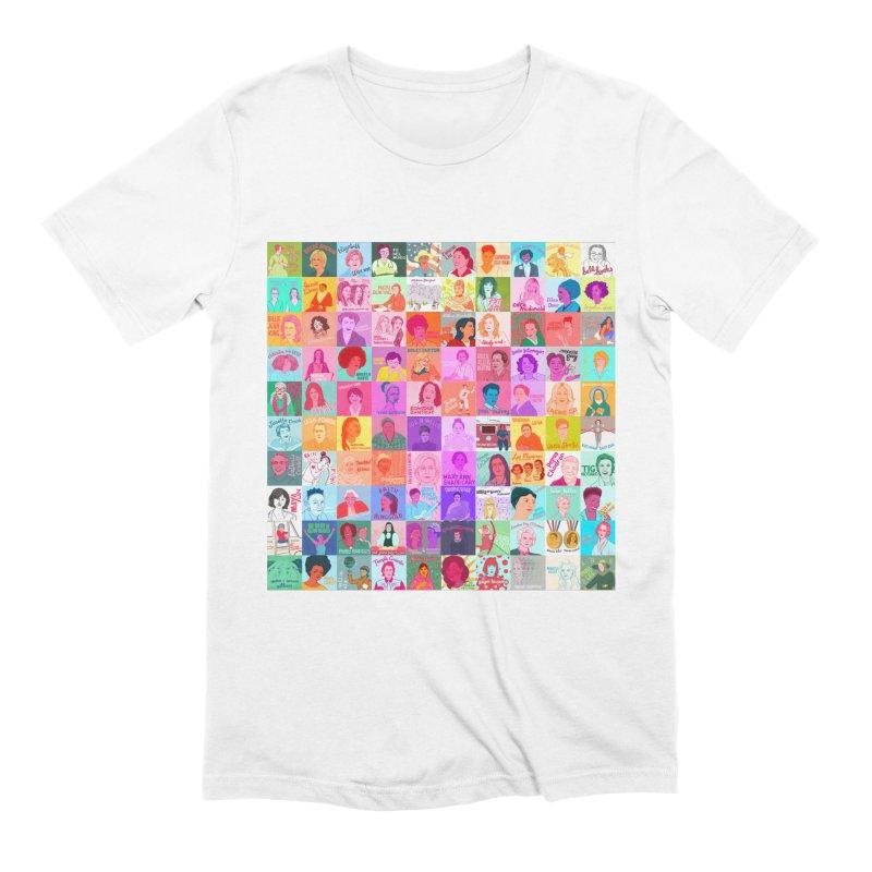 100 Badass Babes Men's T-Shirt by Julie Van Grol's Artist Shop