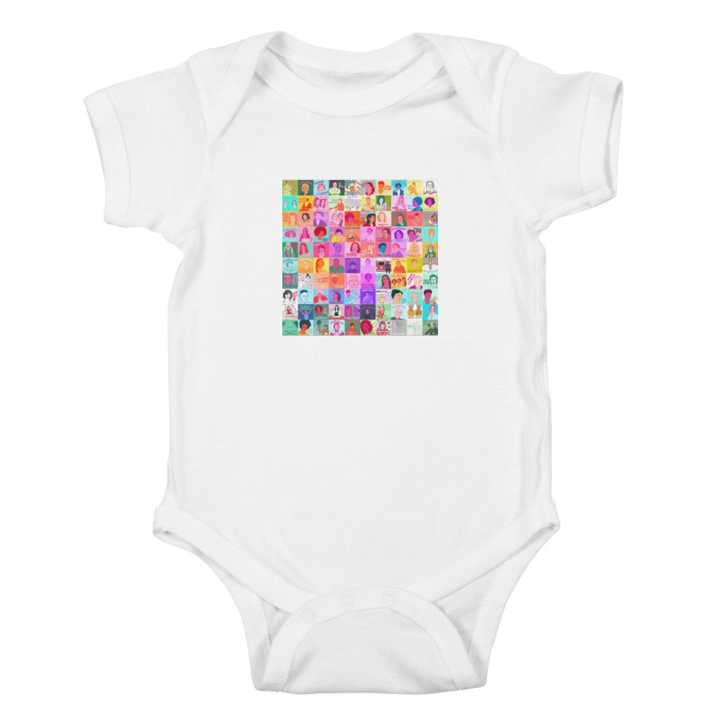 100 Badass Babes Kids Baby Bodysuit by julievangrol's Artist Shop