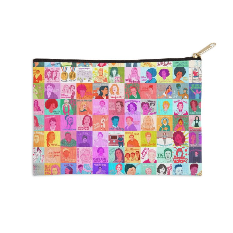 100 Badass Babes Accessories Zip Pouch by Julie Van Grol's Artist Shop