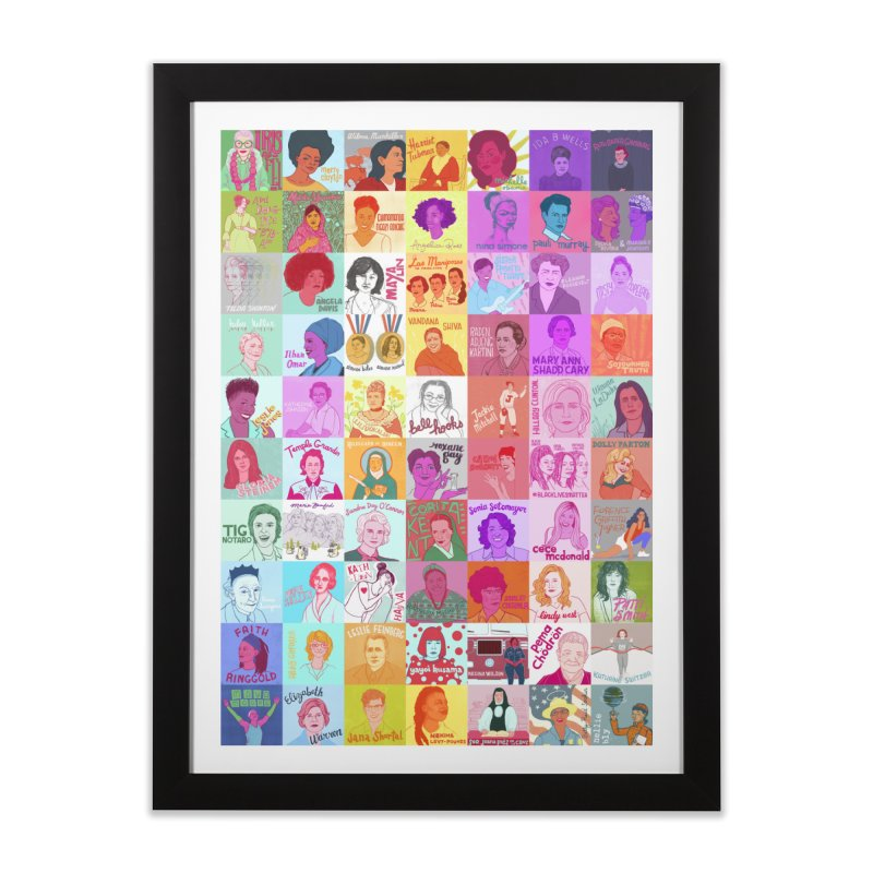 Badass Babes (vertical) Home Framed Fine Art Print by julievangrol's Artist Shop