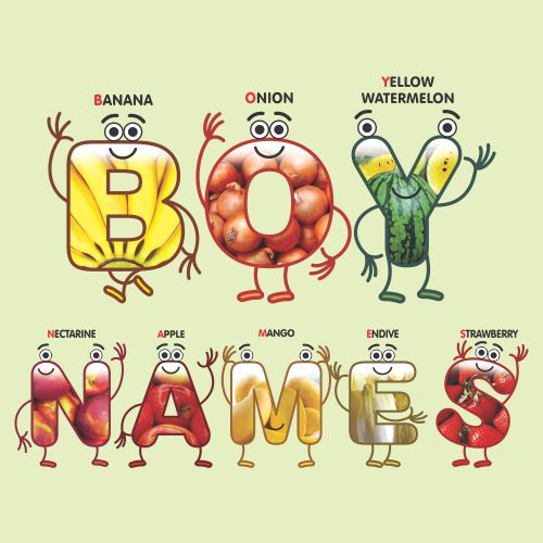 Boy-Names-With-Abc-Fruits-And-Vegetables
