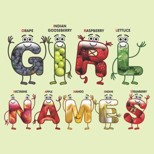 Girl-Names-With-Abc-Fruits-And-Vegetables