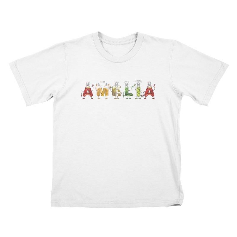 Amelia Kids T-Shirt by juliowinck's Artist Shop