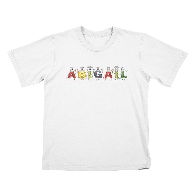 Abigail Kids T-Shirt by juliowinck's Artist Shop