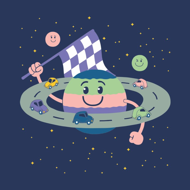 Baby Saturn Men's T-Shirt by juliowinck's Artist Shop