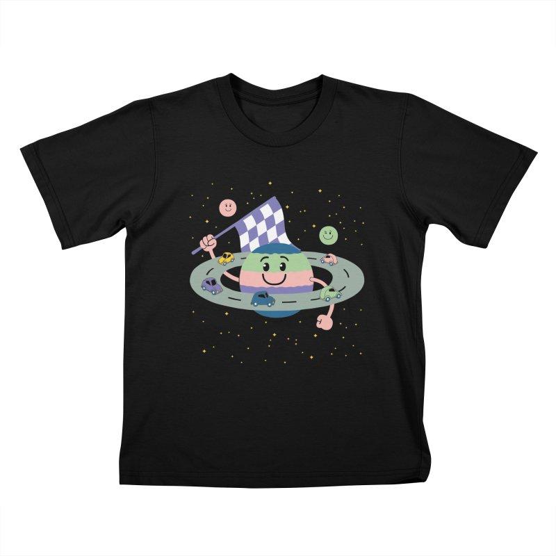 Baby Saturn Kids T-Shirt by juliowinck's Artist Shop
