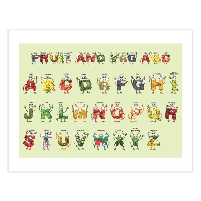 Poster Fruit and Veg ABC Home Fine Art Print by juliowinck's Artist Shop