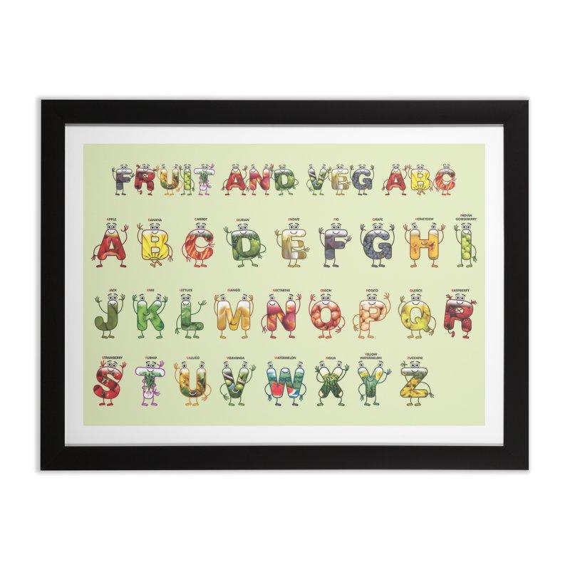 Poster Fruit and Veg ABC Home Framed Fine Art Print by juliowinck's Artist Shop