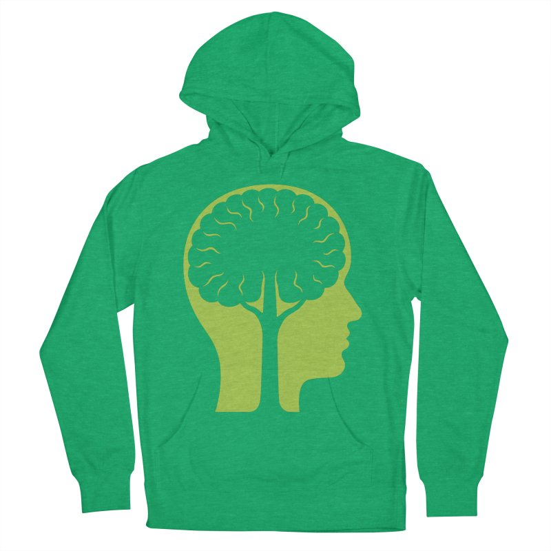 Think Green Men's French Terry Pullover Hoody by juliowinck's Artist Shop