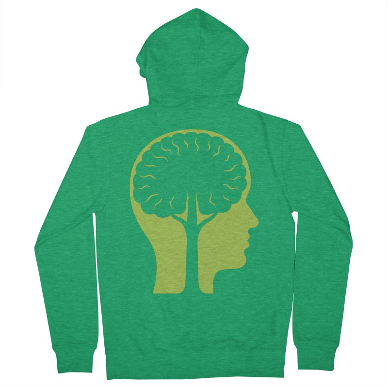 Think Green Women's French Terry Zip-Up Hoody by juliowinck's Artist Shop