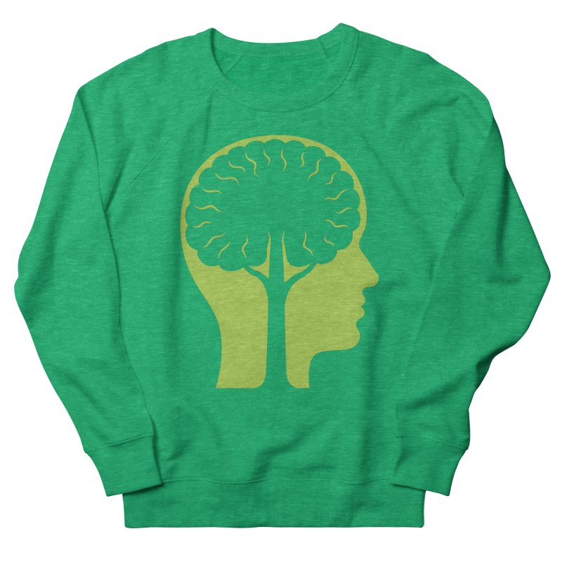 Think Green Men's French Terry Sweatshirt by juliowinck's Artist Shop