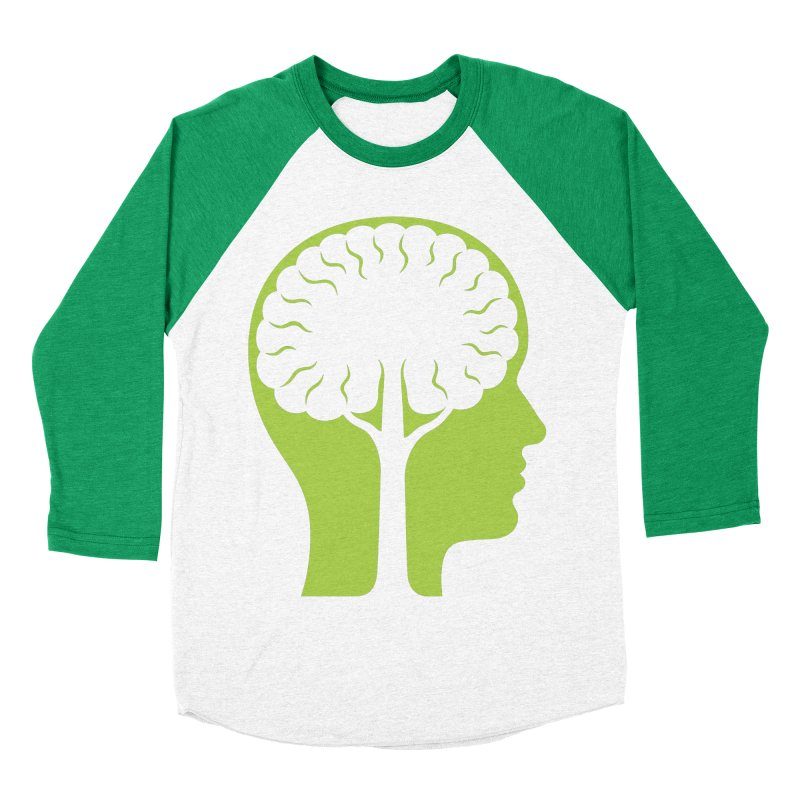 Think Green Men's Baseball Triblend T-Shirt by juliowinck's Artist Shop