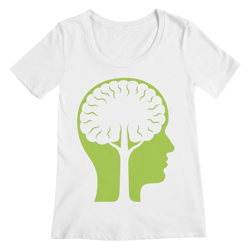 Think Green Women's Scoopneck by juliowinck's Artist Shop