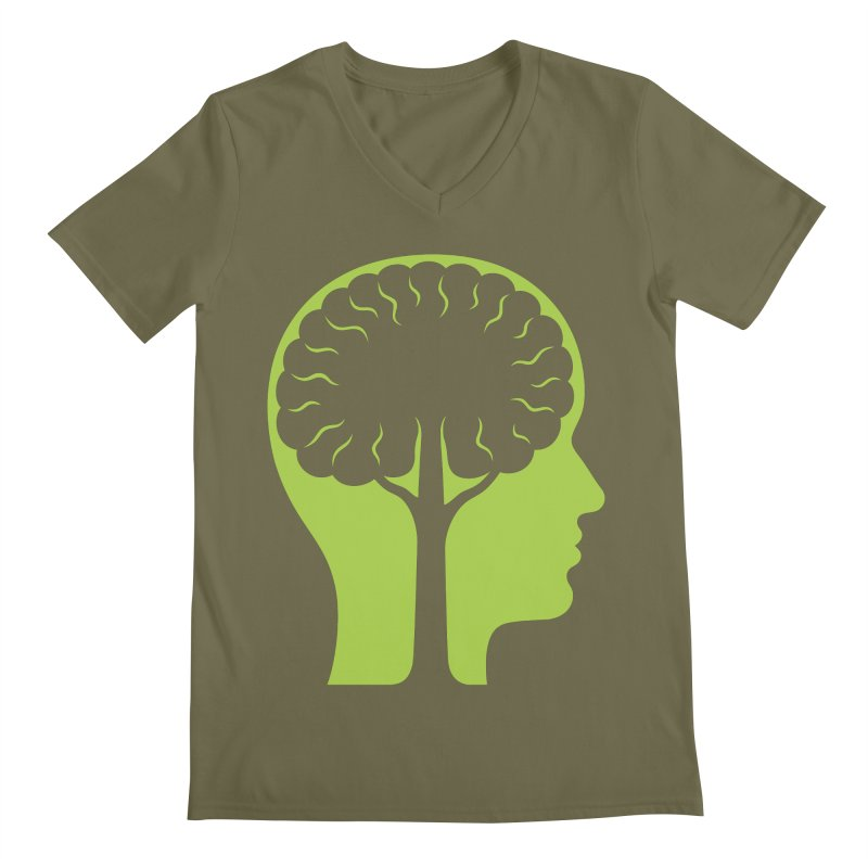 Think Green Men's Regular V-Neck by juliowinck's Artist Shop