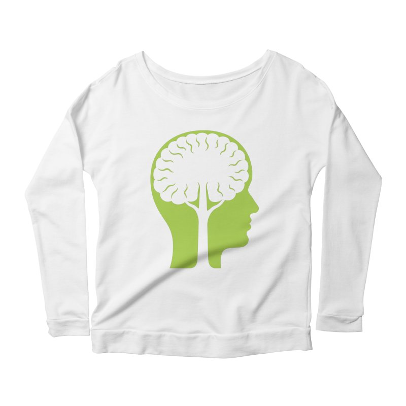 Think Green Women's Longsleeve Scoopneck  by juliowinck's Artist Shop