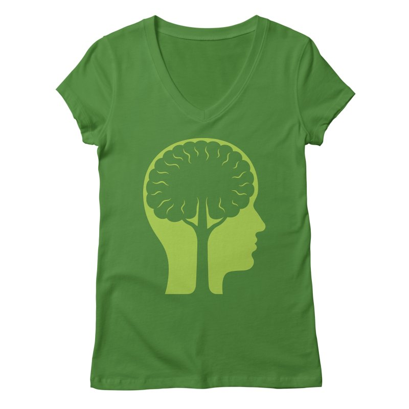 Think Green Women's V-Neck by juliowinck's Artist Shop