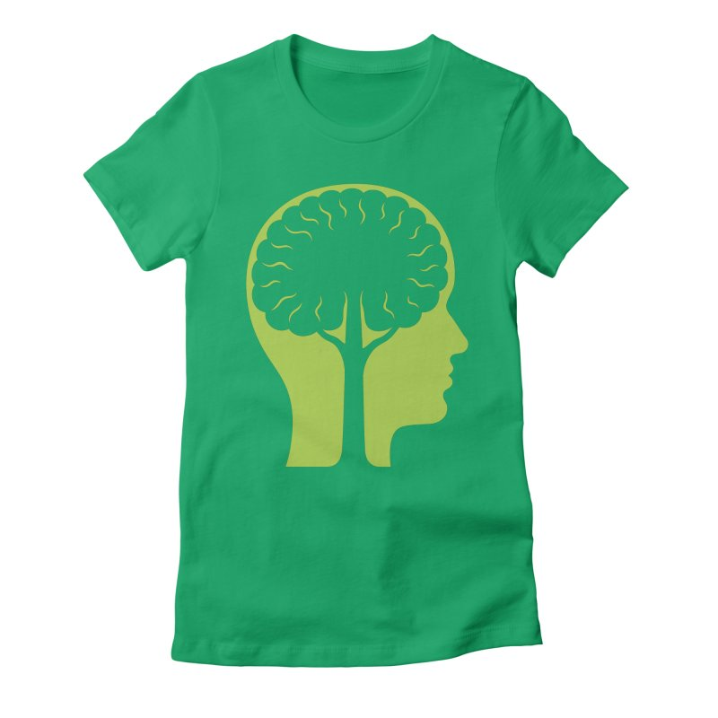 Think Green Women's Fitted T-Shirt by juliowinck's Artist Shop