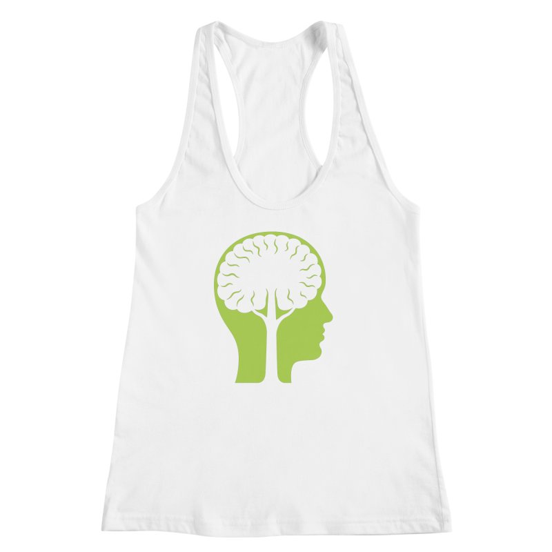 Think Green Women's Racerback Tank by juliowinck's Artist Shop