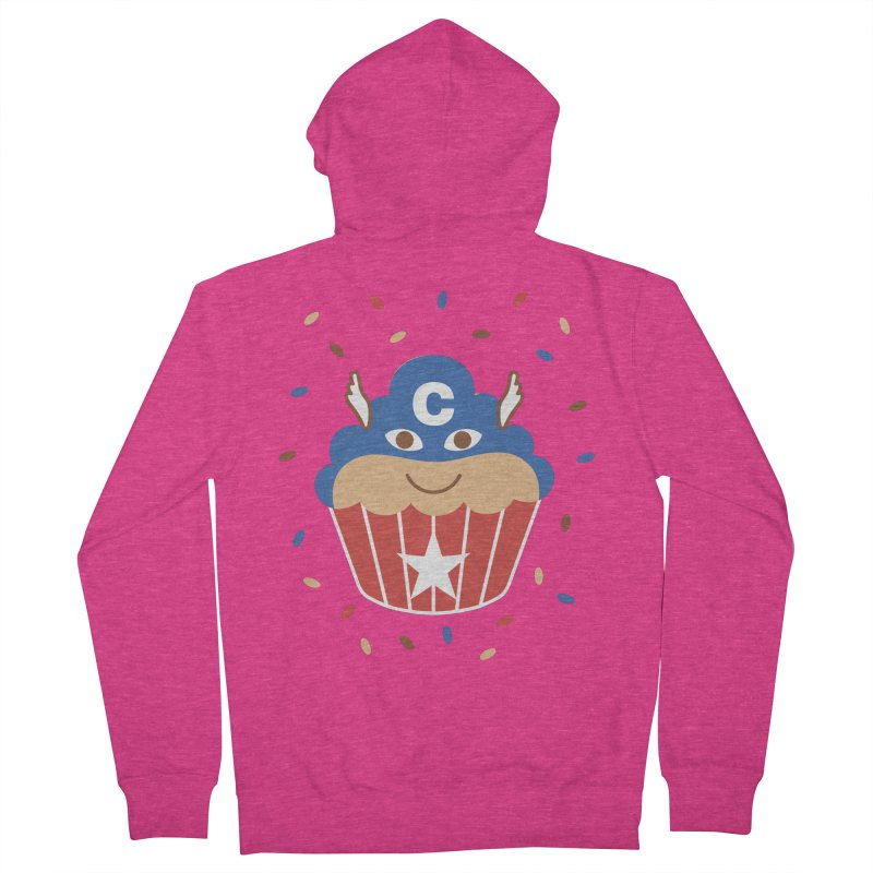 Captain Cake Women's French Terry Zip-Up Hoody by juliowinck's Artist Shop