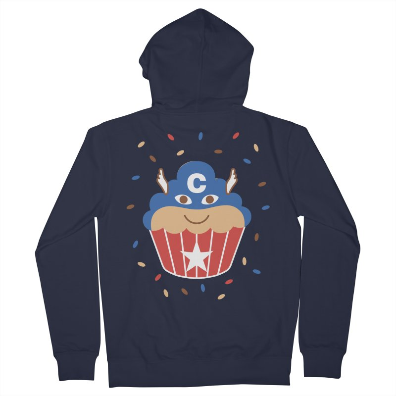 Captain Cake Men's French Terry Zip-Up Hoody by juliowinck's Artist Shop