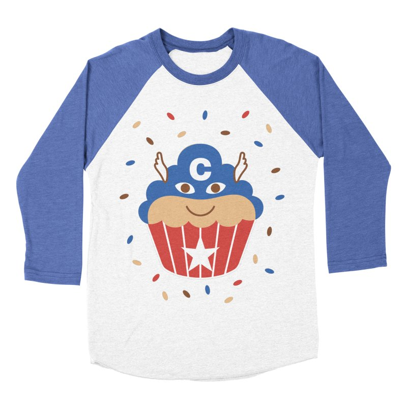 Captain Cake Men's Baseball Triblend T-Shirt by juliowinck's Artist Shop