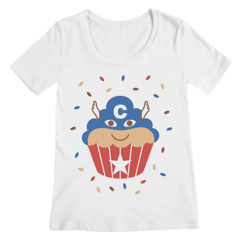 Captain Cake Women's Scoopneck by juliowinck's Artist Shop