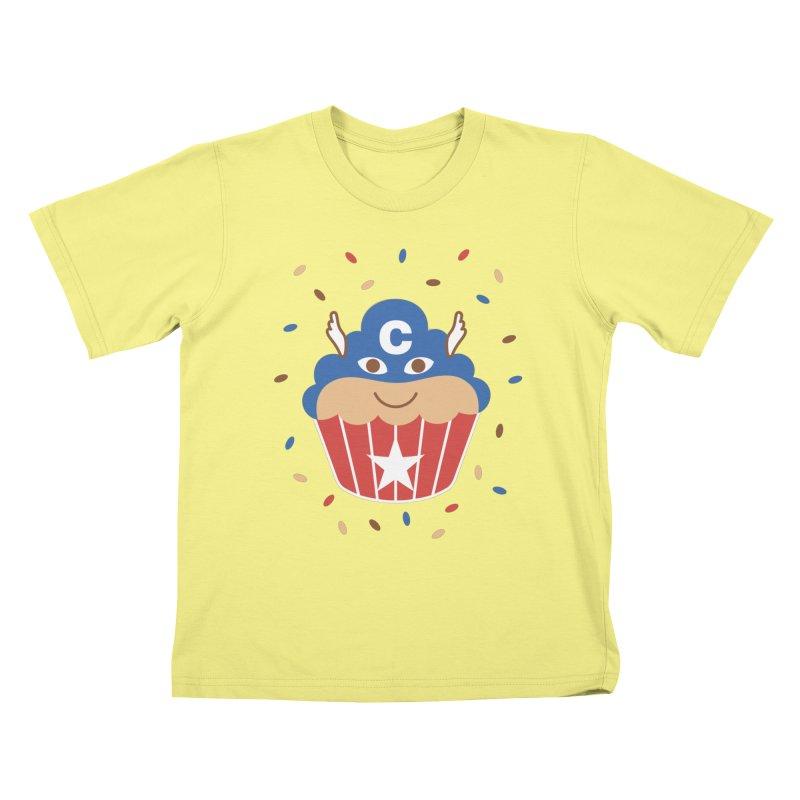 Captain Cake Kids T-shirt by juliowinck's Artist Shop