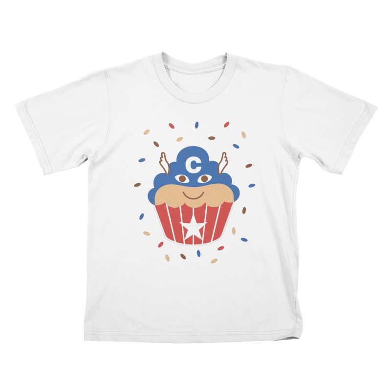Captain Cake Kids T-Shirt by juliowinck's Artist Shop