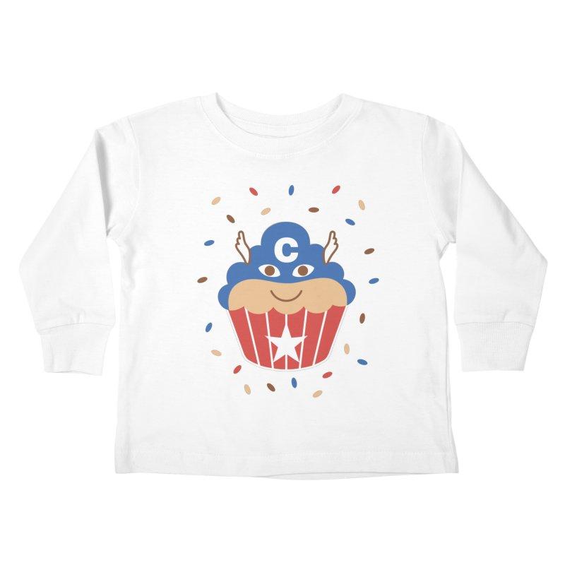 Captain Cake Kids Toddler Longsleeve T-Shirt by juliowinck's Artist Shop