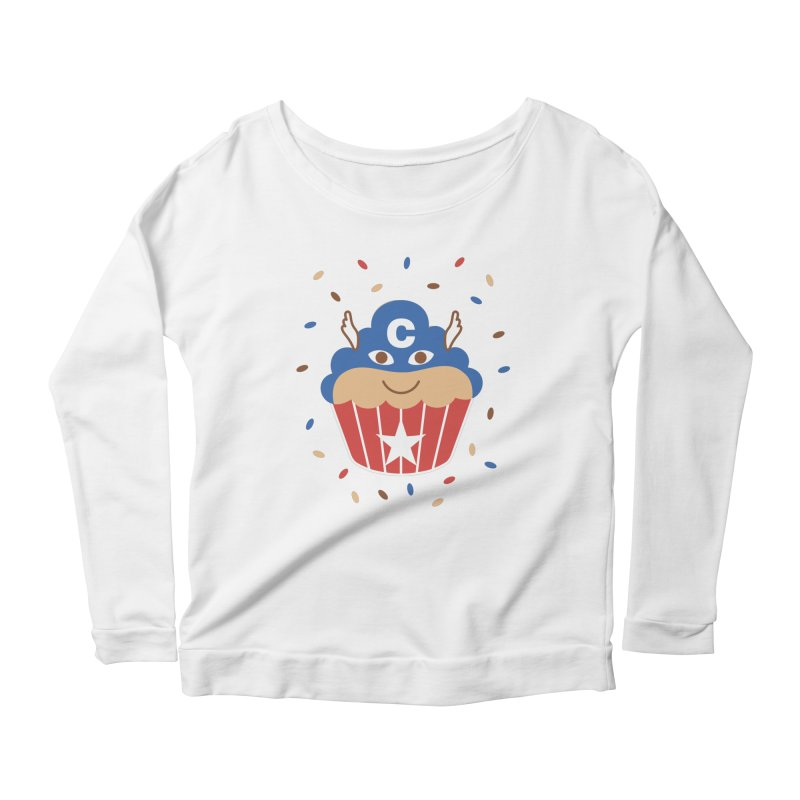 Captain Cake Women's Scoop Neck Longsleeve T-Shirt by juliowinck's Artist Shop