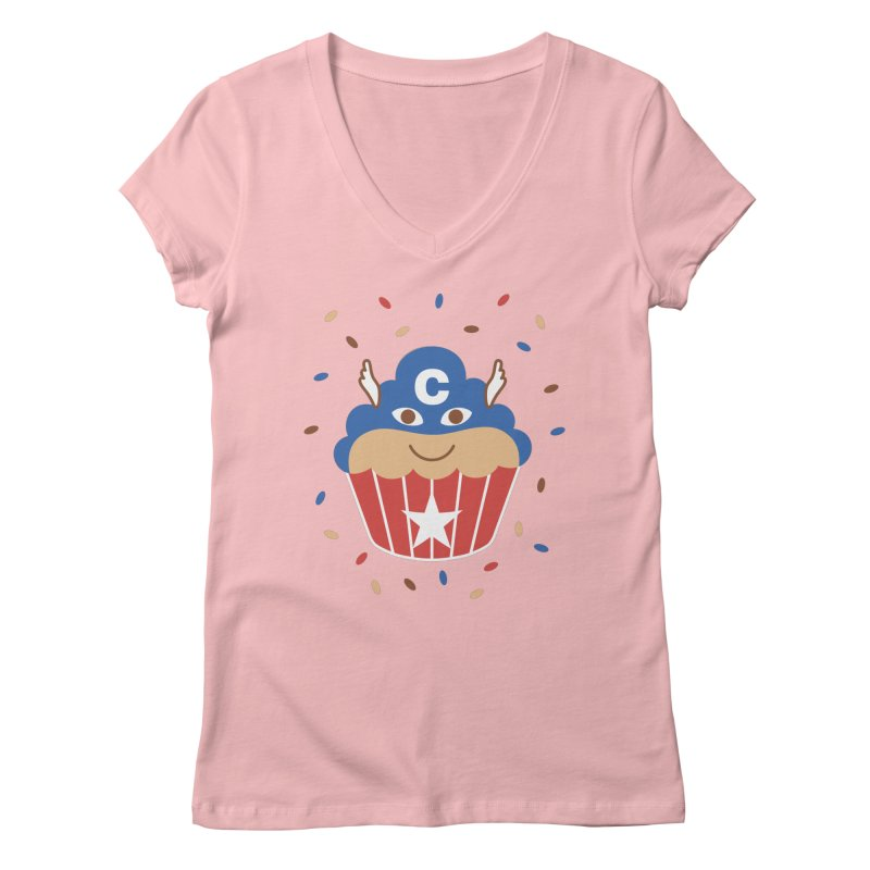 Captain Cake Women's V-Neck by juliowinck's Artist Shop