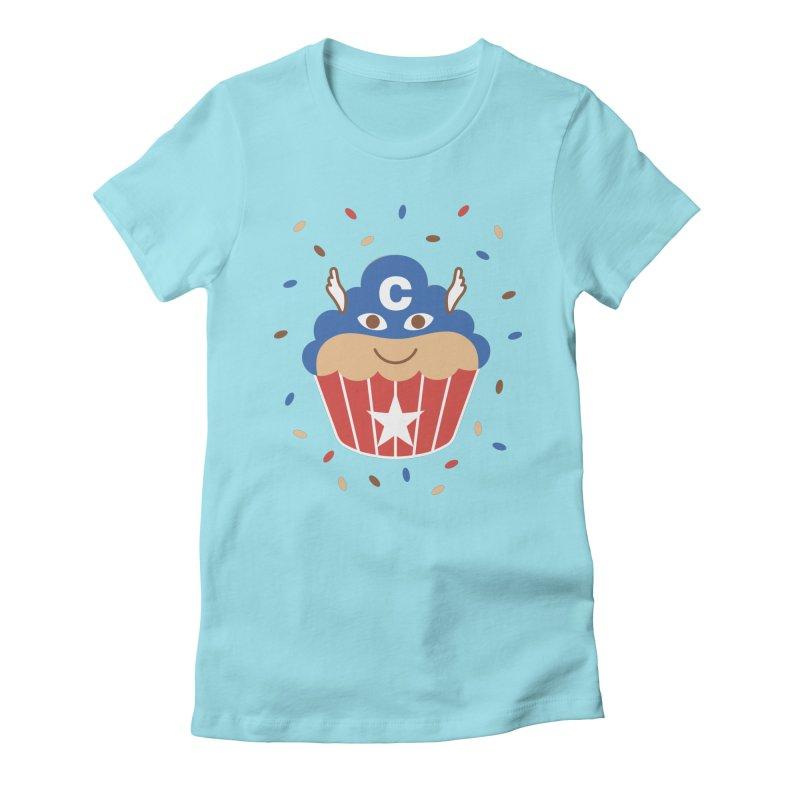 Captain Cake Women's Fitted T-Shirt by juliowinck's Artist Shop