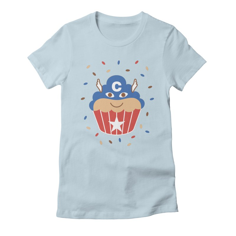 Captain Cake Women's Fitted T-Shirt by juliowinck's Artist Shop