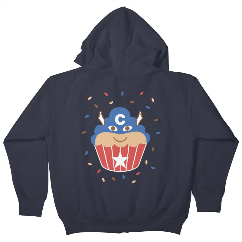 Captain Cake Kids Zip-Up Hoody by juliowinck's Artist Shop